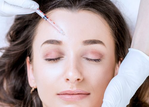 Woman receiving a Botox treatment