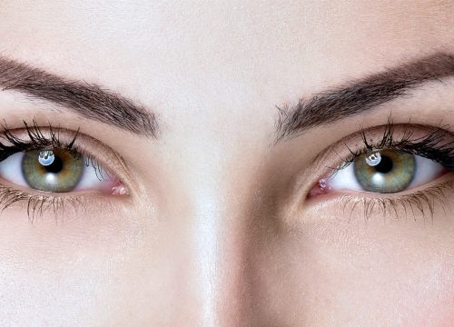 A perfect brow after a brow lift
