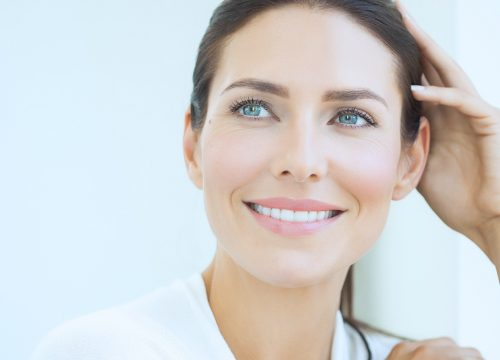 Woman with great skin after a fractional co2 treatments