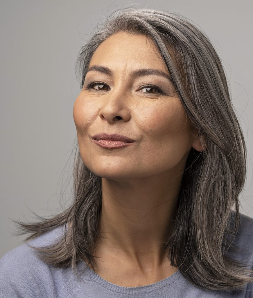 Older woman with great skin