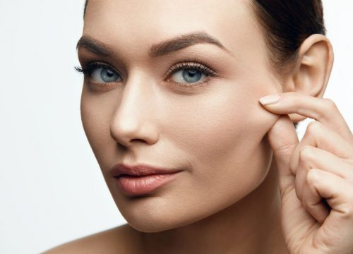 Woman with tight skin after Morpheus8 skin rejuvenation